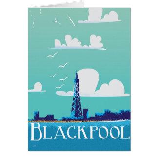 Cartão Poster das viagens vintage de Blackpool,