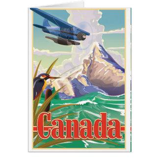 Cartão Poster das viagens vintage de Canadá