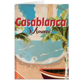 Cartão Poster das viagens vintage de Casablanca