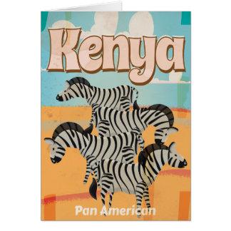 Cartão Poster das viagens vintage de Kenya
