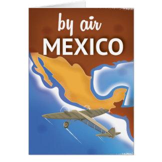 Cartão Poster das viagens vintage de México