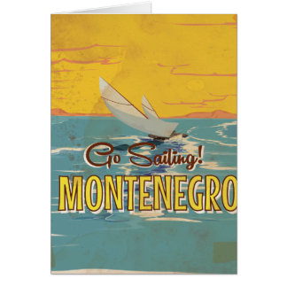 Cartão Poster das viagens vintage de Montenegro