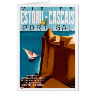 Cartão Poster das viagens vintage de Portugal Estoril