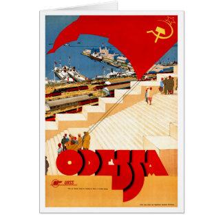 Cartão Poster das viagens vintage de União Soviética