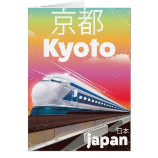 Cartão poster das viagens vintage do trem de bala de