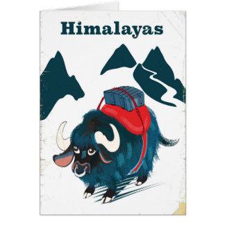 Cartão Poster das viagens vintage dos Himalayas