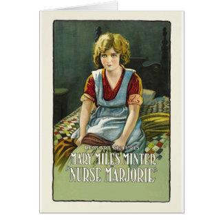 Cartão Poster de Marjorie da enfermeira