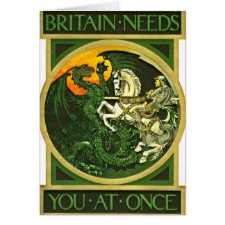 Cartão Poster de recrutamento britânico 1915