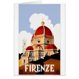 Cartão Poster de viagens 1930 de Florença Italia