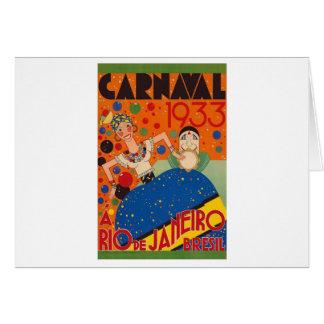 Cartão Poster de viagens 1933 do mundo do vintage do