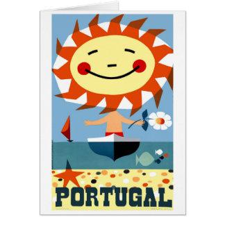 Cartão Poster de viagens 1959 do beira-mar de Portugal do
