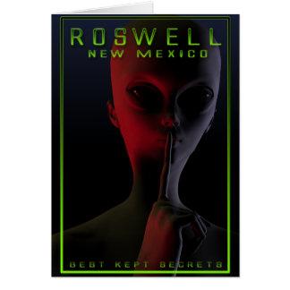 Cartão Poster de viagens 2 de Roswell