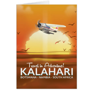 Cartão Poster de viagens da aventura do deserto de