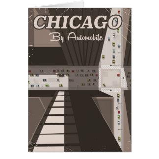 Cartão Poster de viagens da cidade de Chicago