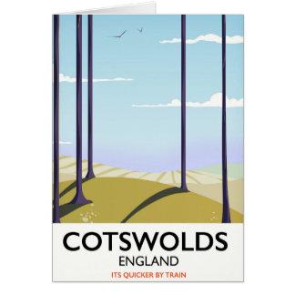 Cartão Poster de viagens da estrada de ferro da paisagem