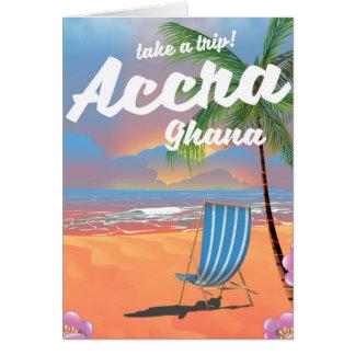 Cartão Poster de viagens da praia de Accra Ghana