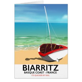 Cartão Poster de viagens da praia de Biarritz France