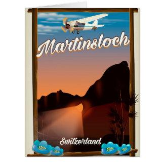 Cartão Poster de viagens da suiça de Martinsloch
