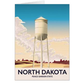Cartão Poster de viagens da torre de água de North Dakota