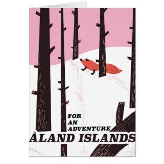 Cartão Poster de viagens das ilhas de Åland, Finlandia