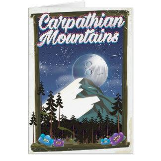 Cartão Poster de viagens das montanhas Carpathian