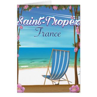 Cartão Poster de viagens de France do Santo-Tropez