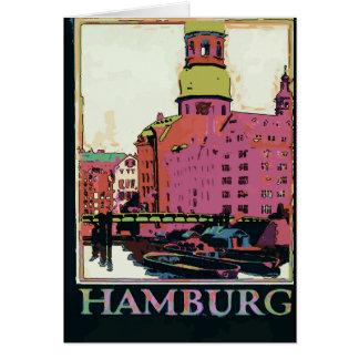 Cartão Poster de viagens de Hamburgo