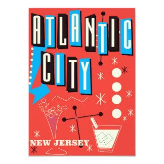 Cartão Poster de viagens de jogo do vintage de Atlantic