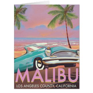 Cartão Poster de viagens de Malibu, Los Angeles,