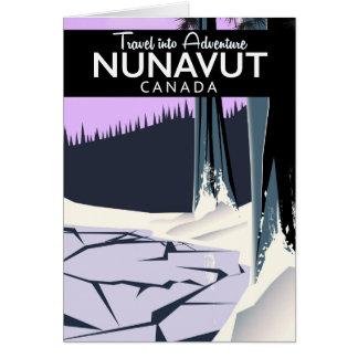 Cartão Poster de viagens de Nunavut Canadá