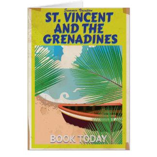 Cartão Poster de viagens de São Vicente e Granadinas
