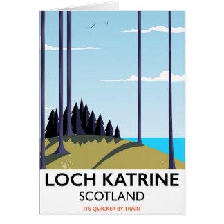 Cartão Poster de viagens de scotland do katrine do Loch