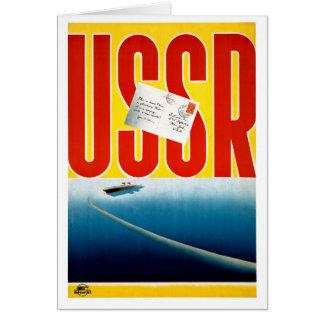 Cartão Poster de viagens do cruzeiro do vintage de URSS