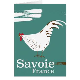 Cartão Poster de viagens do galo novo de Sabóia France