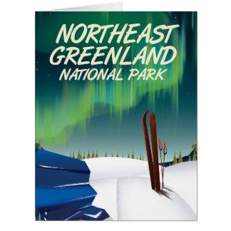 Cartão Poster de viagens do nordeste de Greenland
