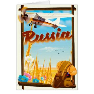 Cartão Poster de viagens dos desenhos animados da