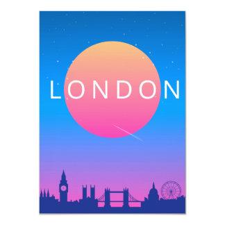 Cartão Poster de viagens dos marcos de Londres