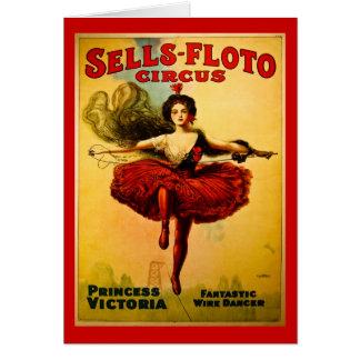 Cartão Poster do circo das Vendas-Floto do vintage
