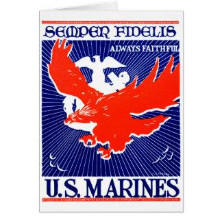 Cartão Poster do Corpo do Marines de WWII