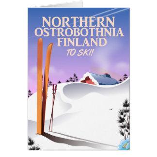 Cartão Poster do norte do esqui de Ostrobothnia Finlandia
