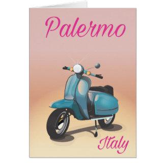 Cartão Poster do patinete de Palermo Italia