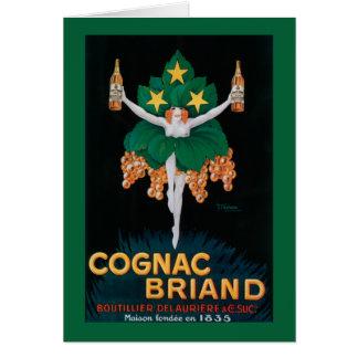 Cartão Poster do promocional de Briand do conhaque