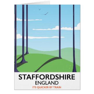 Cartão Poster do trem de Staffordshire Inglaterra