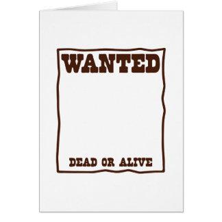 Cartão Poster inoperante ou vivo QUERIDO com fundo vazio
