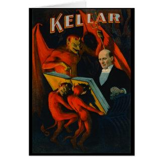 Cartão Poster mágico retro 1894
