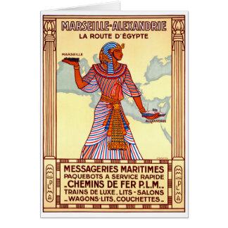 Cartão Poster restaurado Egipto das viagens vintage de