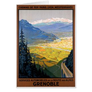 Cartão Poster restaurado Grenoble das viagens vintage de