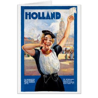 Cartão Poster restaurado Países Baixos das viagens