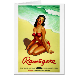 Cartão Poster restaurado Ramsgate das viagens vintage de