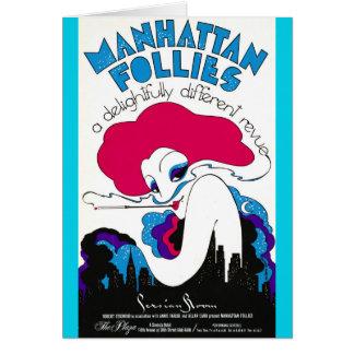 Cartão Poster retro 1979 do teatro